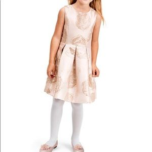 Children's Place Foil Floral Jacquard Dress 10